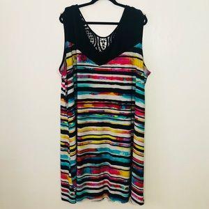 Avenue Plus Size 30/32 Multi color Striped Dress